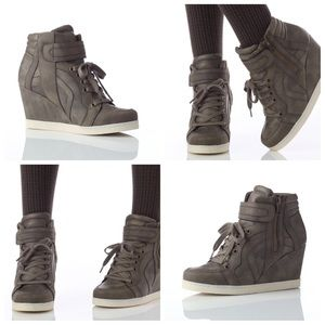 Olive Wedge Sneakers